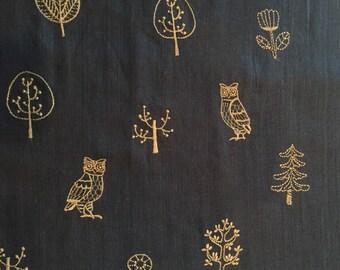 Embroidered double gauze for Kokka fabrics 1/2 yd
