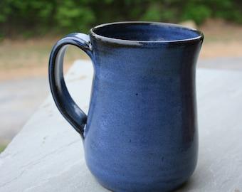 Cobalt Blue Pottery Mug Handle NC Pottery