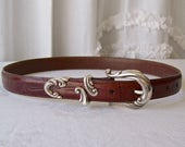 Vintage Leather Belt Brighton Ladies Size M 1990s