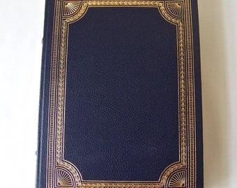 Vintage Satyricon Petronius 22k Gold Accents Full Leather Bound Franklin Library Hardcover Book Printed 1980