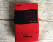 Red and Black Sharp AM-FM Stereo Cassette Player - 90's Walkman -