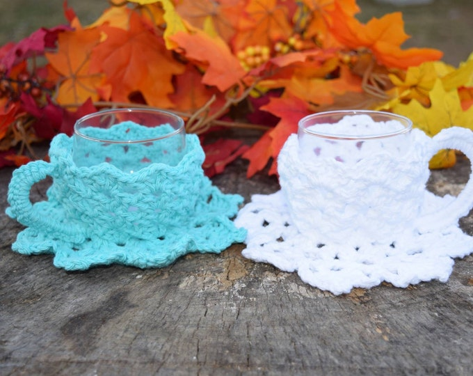 Crochet Teacup Candle Holder