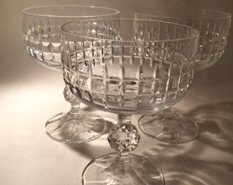 8 Cut Crystal Champagne Coupes