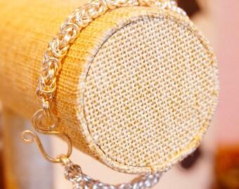 Byzantine chain mail bracelet.