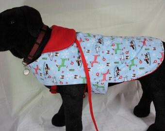 Medium Fleece Christmas Dogs Pet Coat