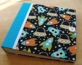 Spaceship Baby Photo Album/ Scrapbook/ Baby Shower Guest book Album