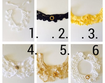 Chocker/Collar, choose a color, costume made, Romantic Floral Wedding, Woman Fashion,Vintage Inspired, Hand Made in the USA, Item No. DeBg10