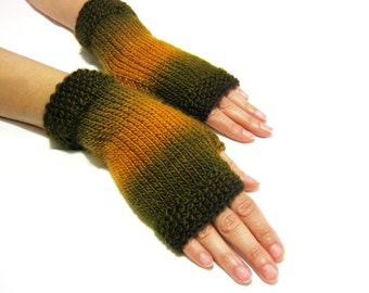 Knit Fingerless gloves | Knitted Fingerless Mittens | Arm Warmers | Hand Warmers | Boho Glove | Wrist Warmers I Multicolor