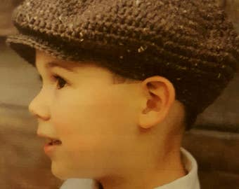 Boy's Newsboy Cap,  Gatsby Cap- Made to Order