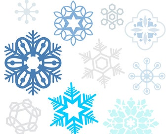 Snowflake clipart, snow flake clipart, snowflake clip art, snow flake clip art, winter clipart, snow clipart, royalty free, digital download