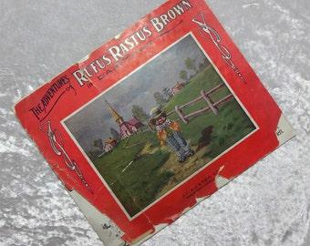 Adventures of Rufus Rastus Brown in Darktown, Black Americana, Scarce Antique 1906 Children's Booklet, FREE SHIPPING