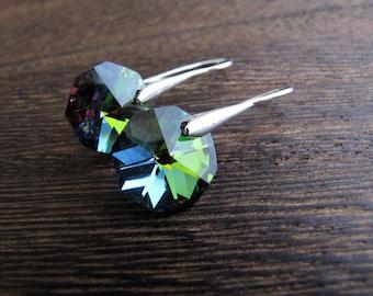 Crystal Earrings, Rainbow Crystal, Rainbow Earrings, Aura Crystal, Drop Earrings, Orgon Charged, Crystal Healing, Crystal Jewelry, Unicorn