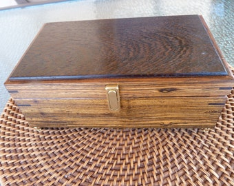 Handcrafted Bocote and Wenge Wood Jewelry/ Keepsake Box