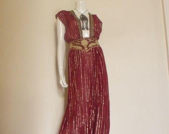 70's Vintage Gossamer Sheer Gauze Dress Jumpsuit med.