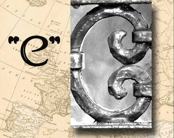 Letter C Alphabet Photography Black and White or Sepia 4 x 6 Photo Letter Unframed