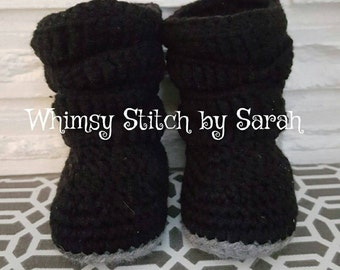 Slouch booties, crib shoes, baby shoes