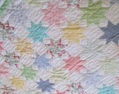 Vintage Star Quilt Of Many Colors