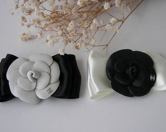 Chanel Camellia Leather Chanel  Pin Brooch Logo Chanel Handmade Camellia Chanel Inspired  Brooch Elegant Pin Chanel inspired jewelry