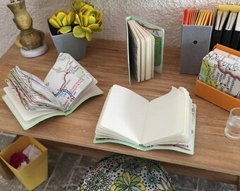 3 Travel Journals Kit, 1:12 Scale Miniature