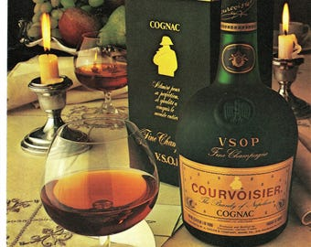 1979 Print Ad Courvoisier Cognac The Brandy of Napolean Vintage Den Bar Lounge Man Cave Advertising Art Fathers Day Gift