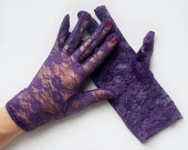Gracie Purple Lace Gloves