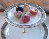 YOUR DESIGN Silver Gold Two- or Three-Tier Cake Stand, Cupcake Stand, Tea Tray, Wedding Cake Stand, Snack Tray, Platinum Cake Stand