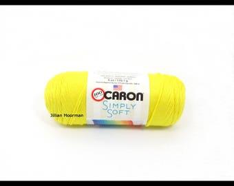 Caron Simply Soft Yarn, Super Duper Yellow, 6oz