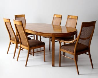 Great Consensus By Drexel Dining Table Set Circa 1977 Part 17