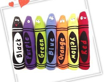 """Plush Crayon, Sewing Pattern, 36"""" Plush Crayon Pal Sewing Pattern, Kids Room Decor, Plush Crayons Pattern"""