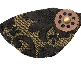 Gold Black Eye Patch Visionary Victorian Steampunk Pirate Fantasy Fashion Cosplay