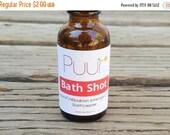 BLACK FRIDAY SALE Bath Shot - Dead Sea Salt Soak - Bath Oil - Single Serve Trial Size Stocking Stuffer 1oz Emergency Relaxation - Essential