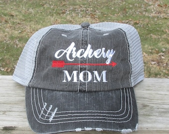 Archery Mom with Arrow embroidered hat