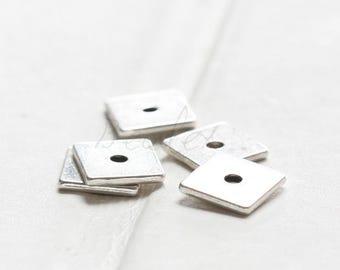 40pcs / Square Spacer / Oxidized Silver Tone / Base Metal / 8mm (Y16655//K354)