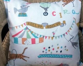 circus pillow cover - circus throw pillow - pastel pillow - circus cushion cover - circus cushion - circus decor - circus pillow