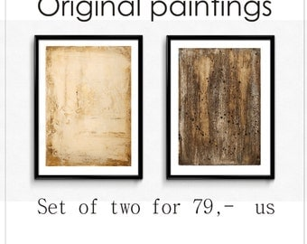wall art  brown creme  painting ,textured ,abstract painting,brown creme  acrylic painting  by Jolina Anthony