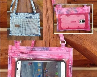 Hold The Phone! Crossbody Smartphone Case in French Words