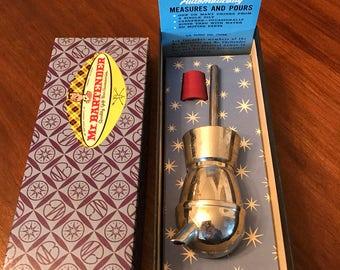Vintage Mr. Bartender Measuring Dispenser Bar Liquor Tool Pour Dispenser Barware Original Box Packaging 1960s