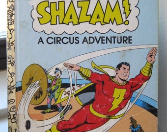 1977 Shazam A Circus Adventure Little Golden Book