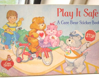 Play It Safe A Care Bear Sticker and Coloring Book Created for Pizza Hut