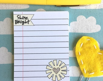Notecards ~ sun shine bright ~ stickers ~ lined paper note cards stickers ~ planner stickers ~planner supplies ~ PW004