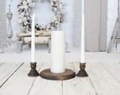 Unity Candle Holder Rustic Wedding Decor