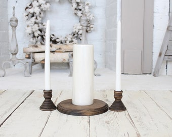 Unity Candle Holder Rustic Wedding Decor