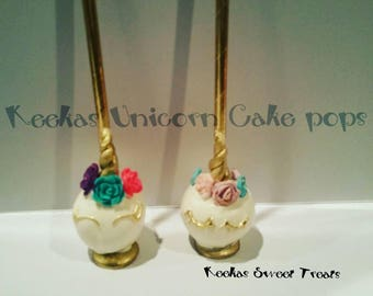 12 unicorn cake pops unicorn party favors