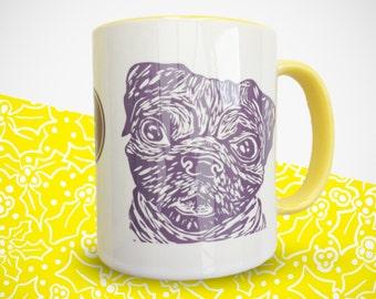 Yellow Pug Mug