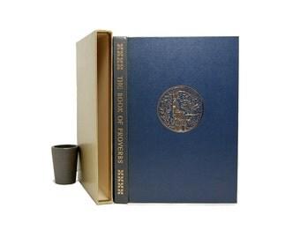 1963 Book Of Proverbs Heritage Press Robert Gordis Valenti Angelo Art Illuminated Text Midcentury Boxed Edition George Macy Co