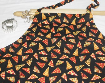 Plus Size Pizza on Black Apron