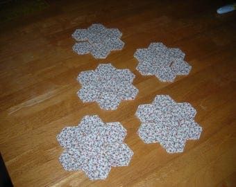 367 - Floral Fabric Hexagons - AccuQuilt Die Cut