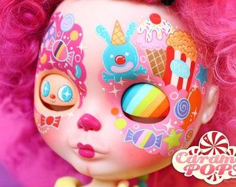 Caramelpops Custom Blythe Art Doll (Pokko the Candy Clown)