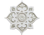 Mandala wall decor made from ceramic, outdoor wall art, ceramic wall art, ceramic tile, mandala 3 cutout, beige