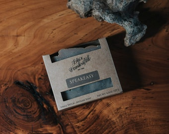 SPEAKEASY~Activated Charcoal-Kaolin clay-Cold Process VEGAN Artisan Soap